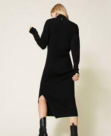 Robe longue côtelée Noir Femme 212AT3104-04