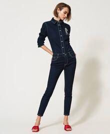 """'Vega"""" skinny jeans Dark Denim Woman 211MT2383-06"""