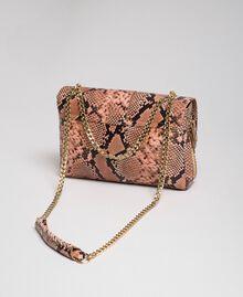 Grand sac à bandoulière Rebel avec imprimé python Imprimé Python Rose Mousse Femme 192TA7230-04