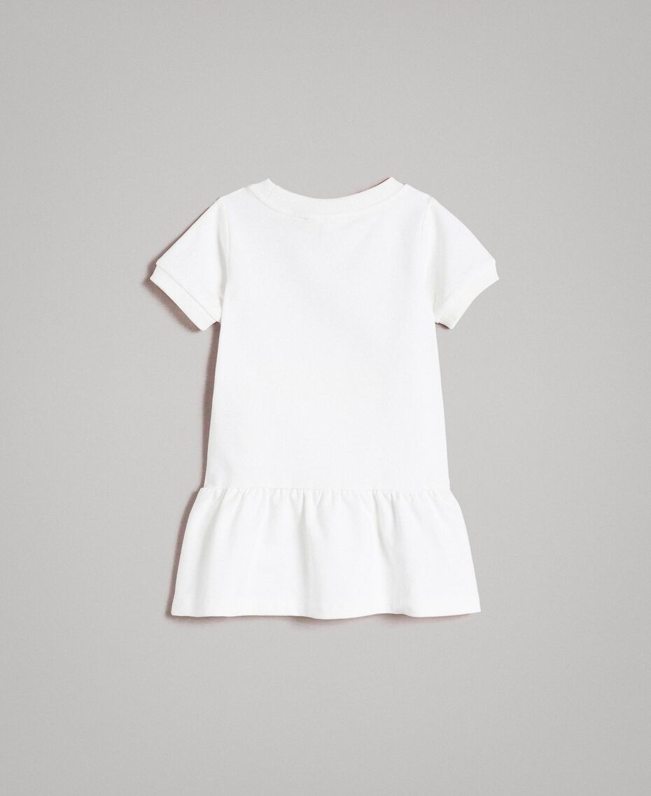 Fleece dress with writing White Child 191GB2041-0S
