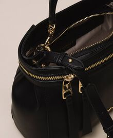 Large faux leather New Cécile bag Black Woman 201TO8180-05