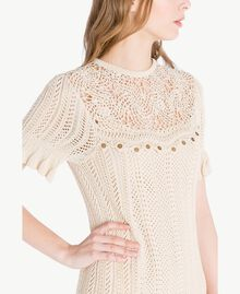 Crochet dress Ecrù Woman TS83BA-04