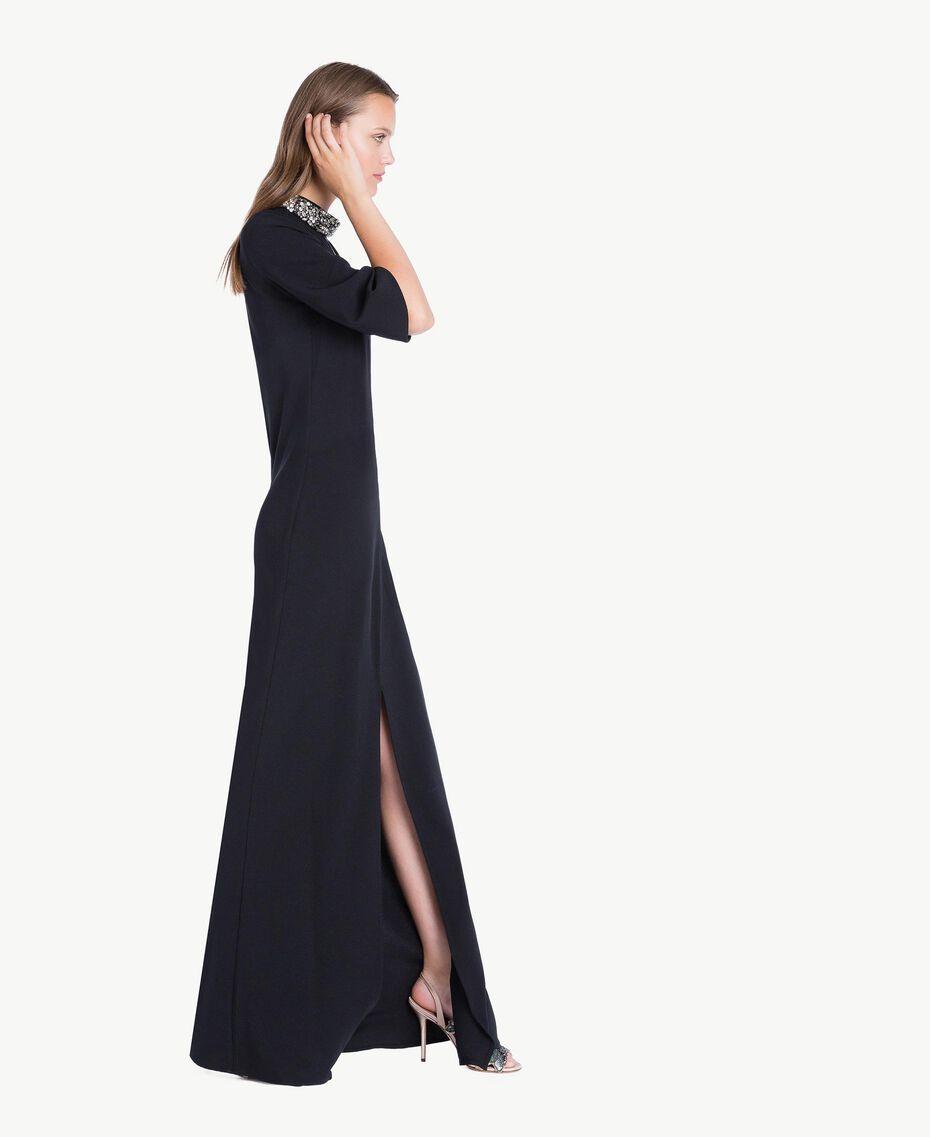 Robe longue broderie Noir Femelle QA7PBP-02