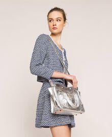Leather Rebel shopping bag with pocket Titanium Gray Woman 201TA723Z-0T