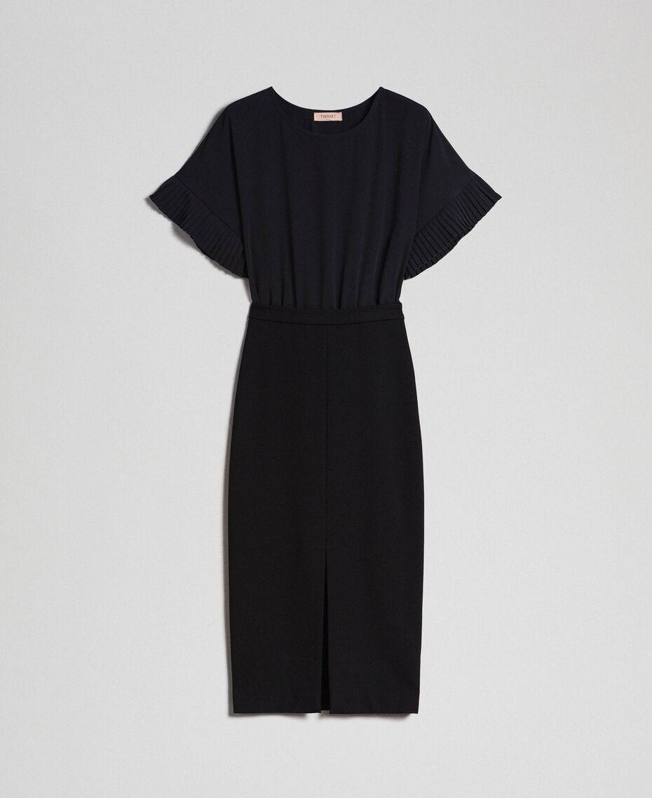 Robe mi-longue fendue Noir Femme 192TT2083-0S