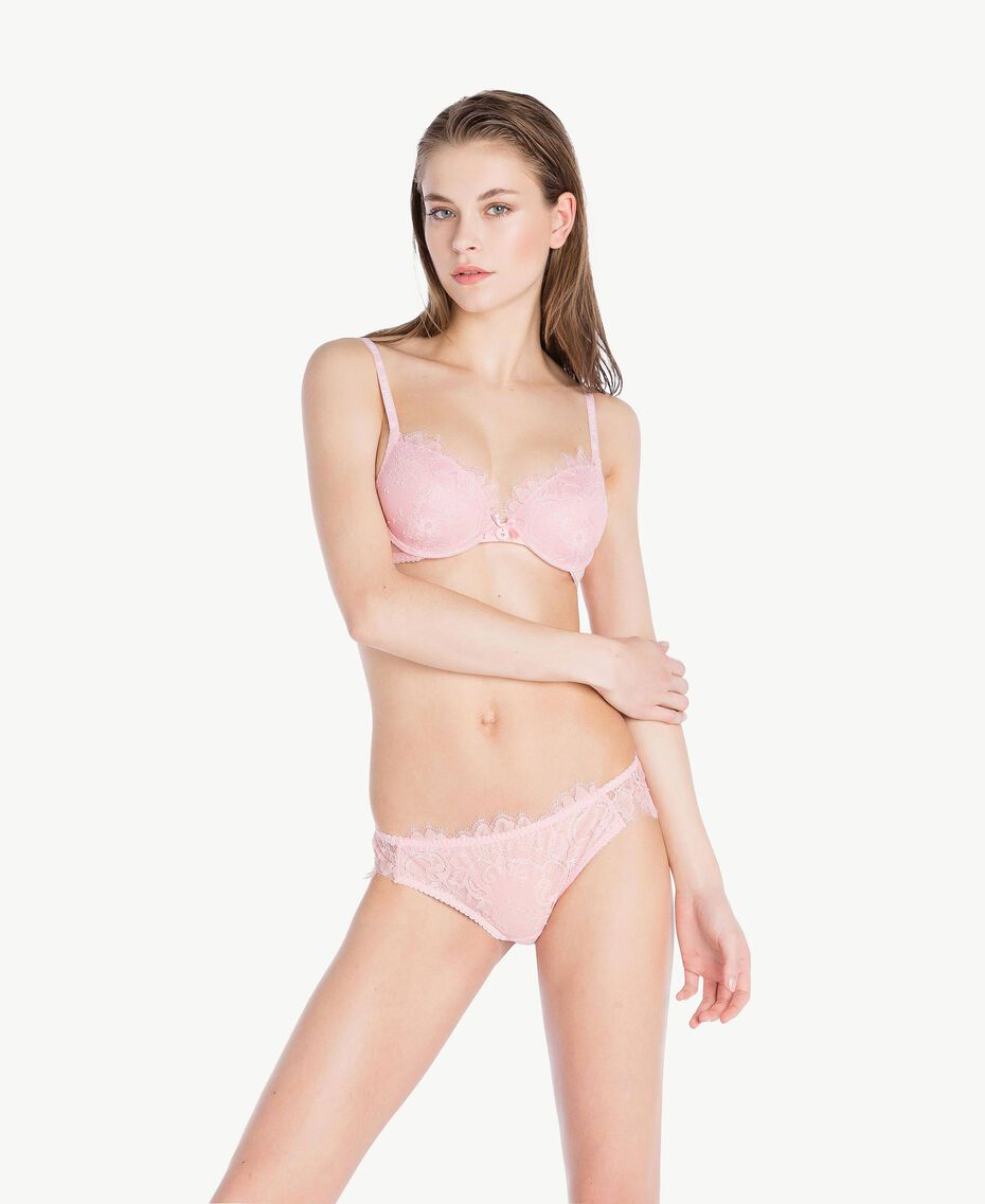 Lace push-up bra (C cup) Pinkie Sugar Woman LS8B4C-03