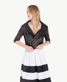 Leather biker jacket Black Woman YS82JG-01
