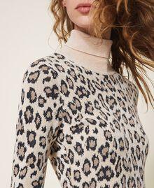 Animal print jacquard sheath dress Animal Jacquard Woman 202TT3160-04