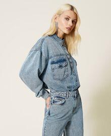 """Camicia in jeans Blu """"Denim Medio"""" Donna 212AP2391-04"""
