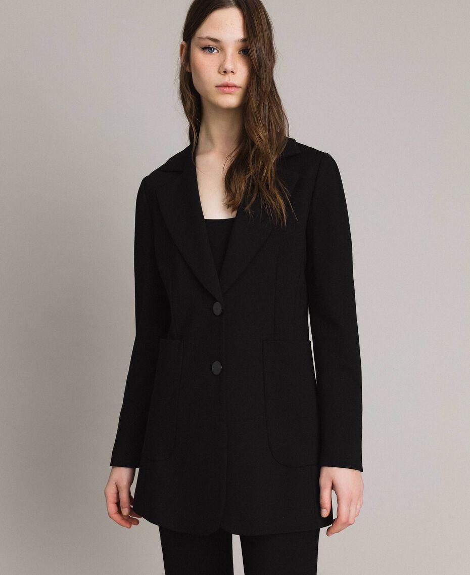 Giacca blazer lunga Nero Donna 191TP2420-01