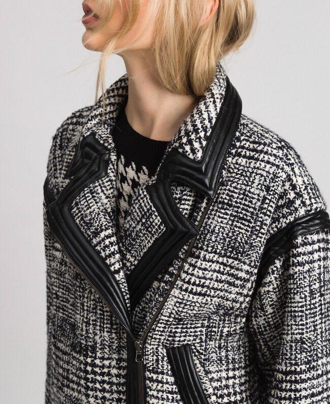 Perfecto en drap Prince de Galles Jacquard Neige / Noir Femme 192TT2100-05