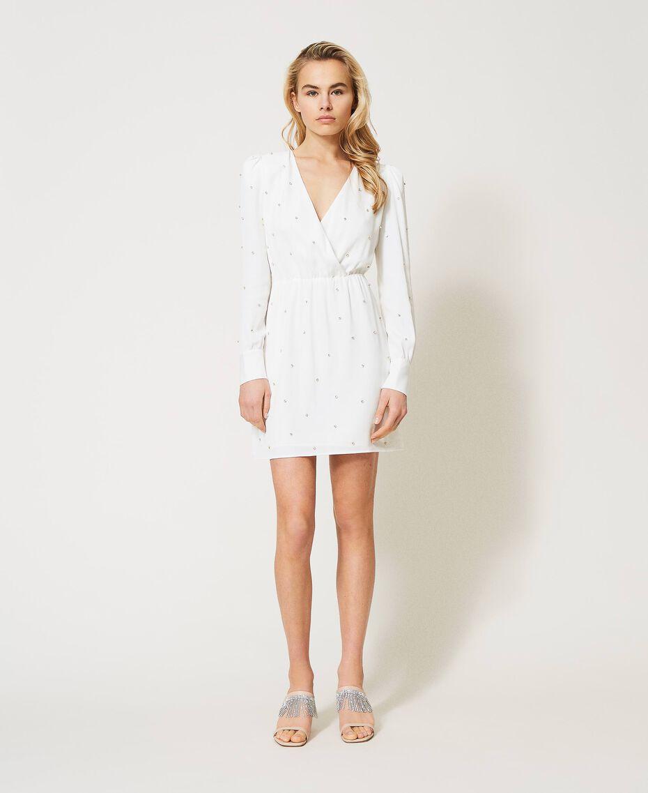 Платье с шатонами Слоновая кость женщина 211LM21EE-01