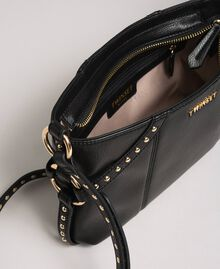 Faux leather shoulder bag with studs Black Woman 192TO8164-05