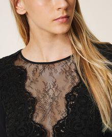 Dress with lace Black Woman 202TT2285-04