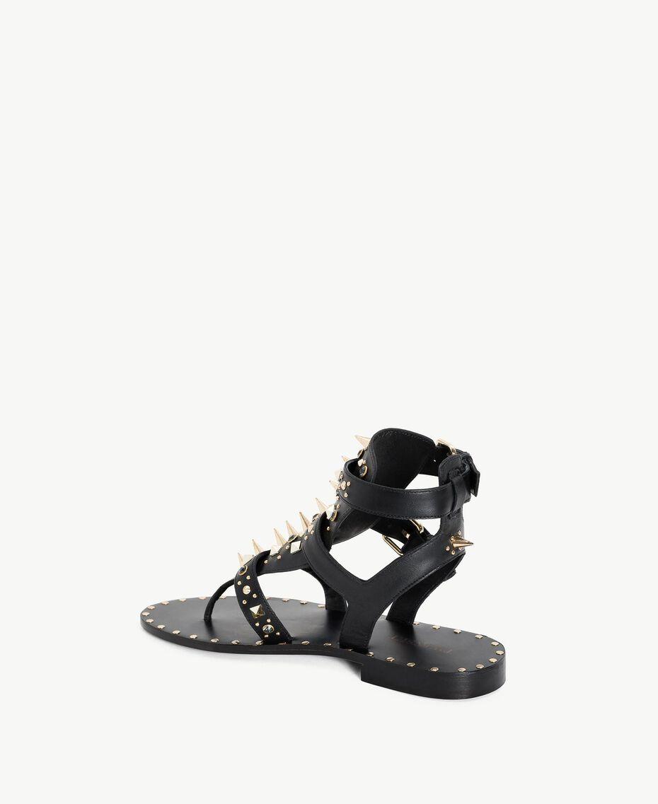 Sandales avec clous Noir Femme CS8TGC-03