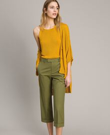 "Poplin trousers ""Olive"" Green Woman 191TT2232-01"