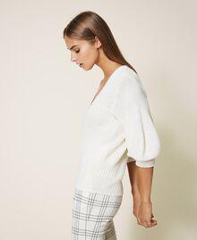Pull en laine mélangée Blanc Crème Femme 202MP3162-02