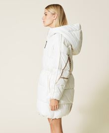 'Alum' puffer jacket with logo print Mother Of Pearl Woman 212AT2040-04