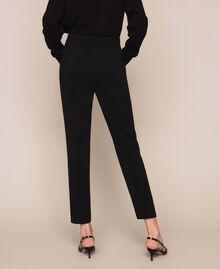 Pantalon fluide en crêpe georgette Griotte Femme 201TP202B-04