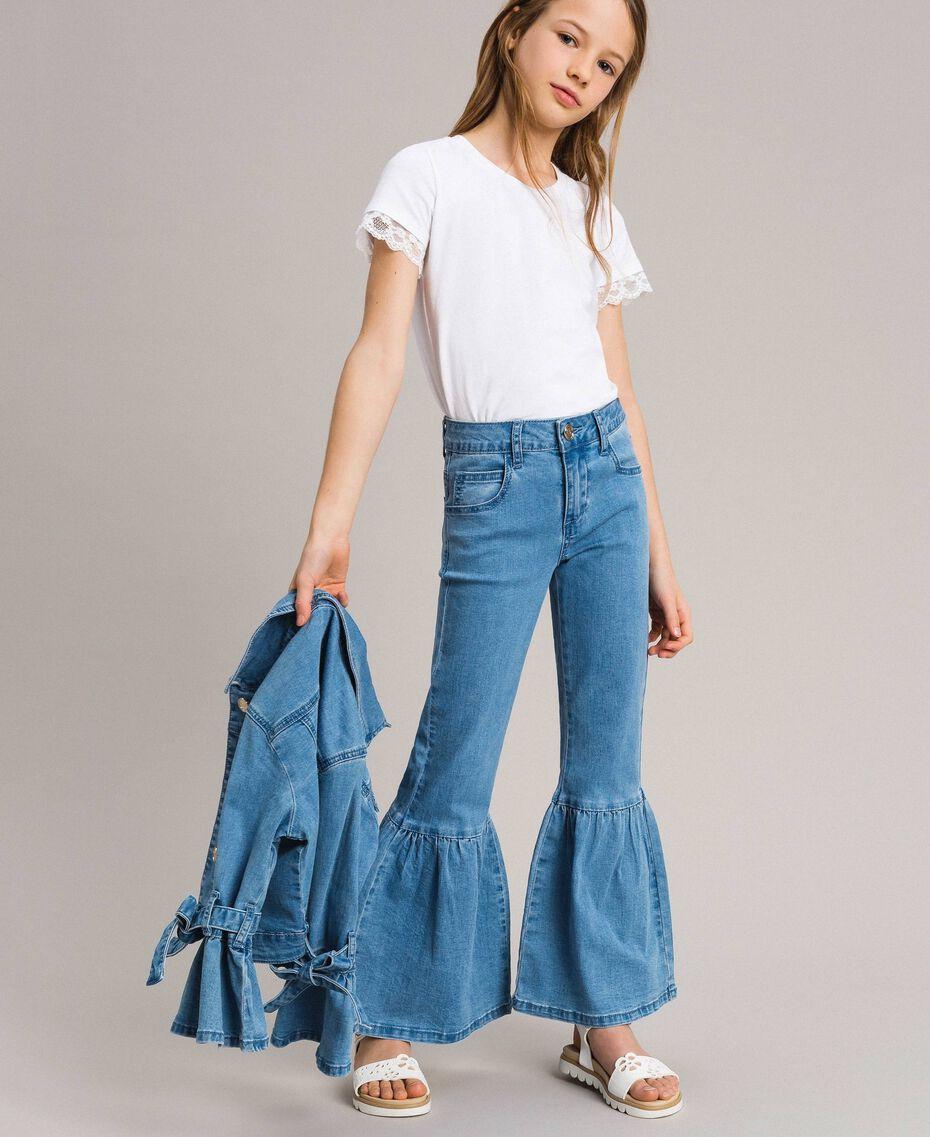 Bell-Bottom-Jeans Hellblauer Denim Kind 191GJ2590-0S