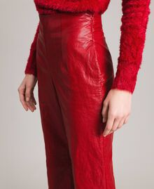 "Pantaloni in similpelle Rosso ""Ruby"" Donna 191TP2550-04"