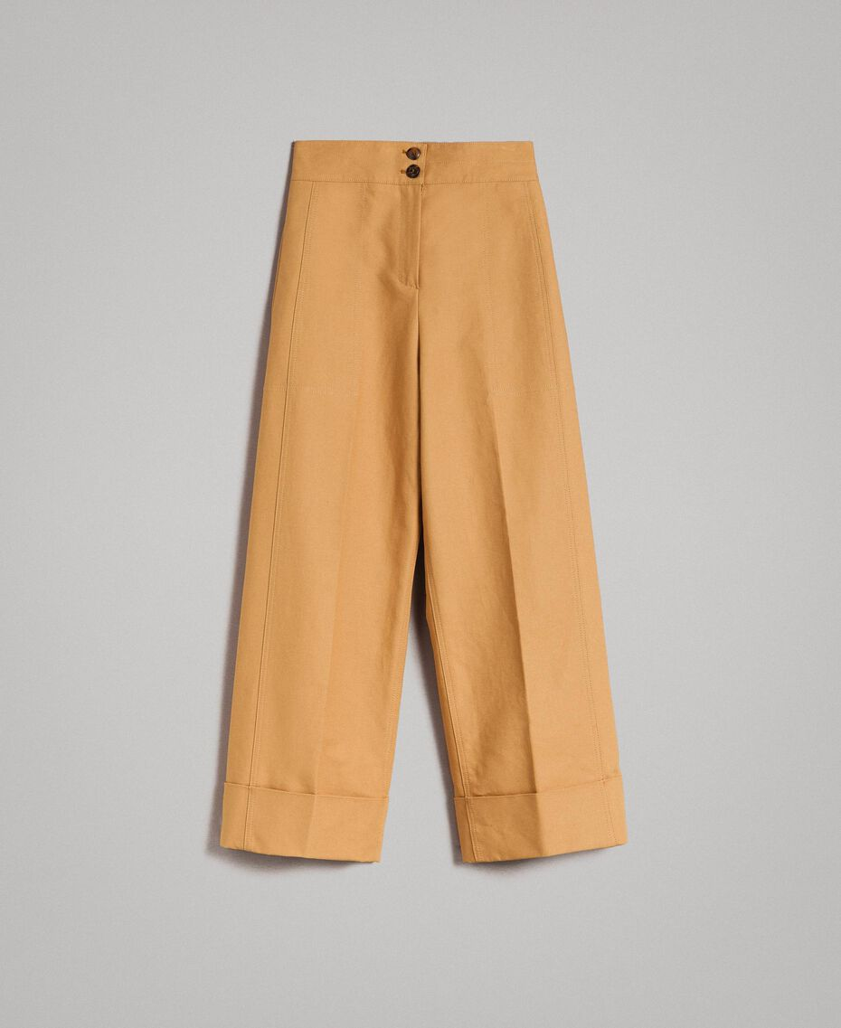 """Technical cotton trousers """"Mid Tan"""" Brown Woman 191TP2181-0S"""