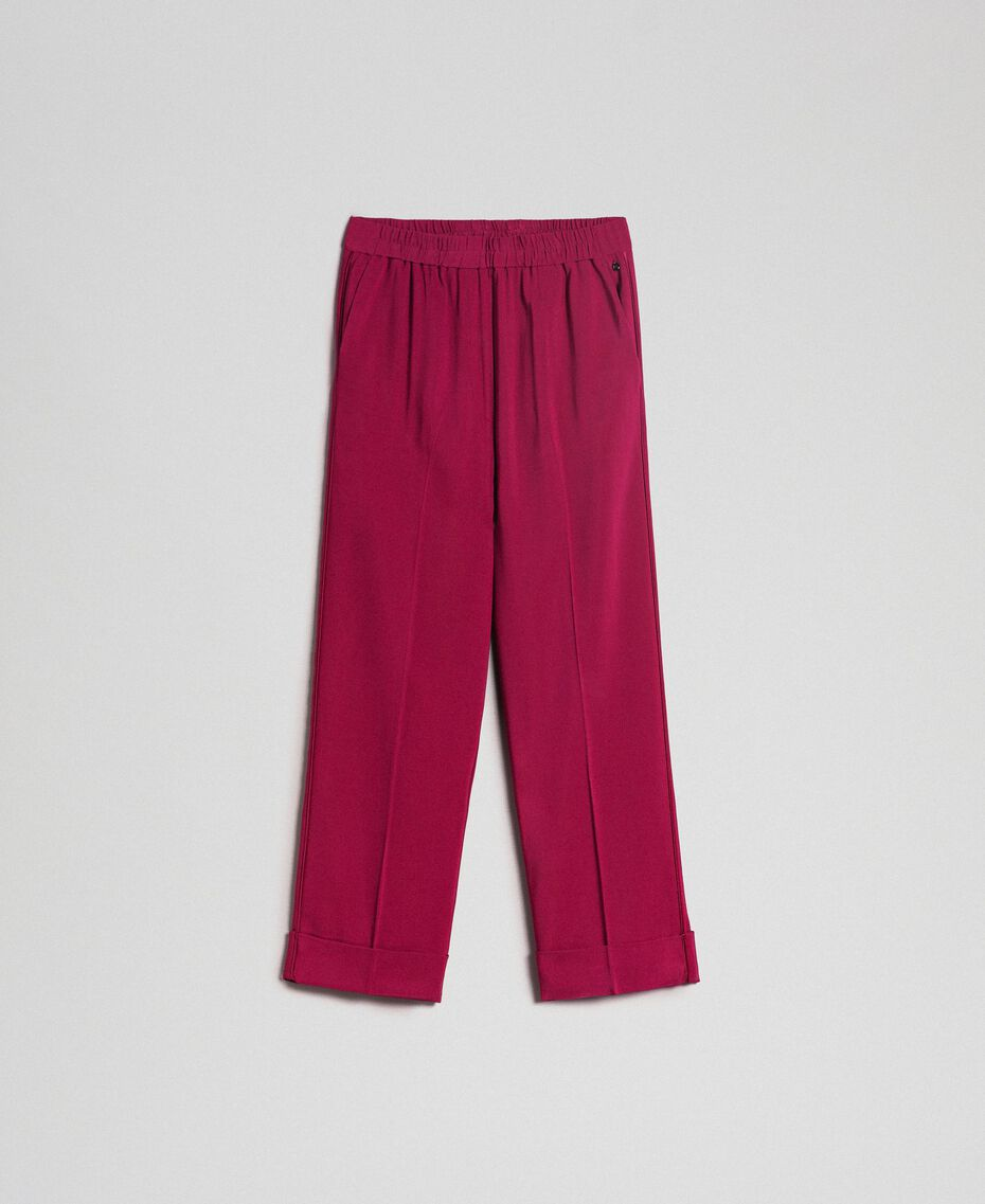 Georgette trousers Beet Red Woman 192TP2387-0S