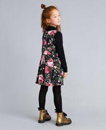 Платье из набивного пике и футболка Набивной Розы / Черный Pебенок GA82LC-03