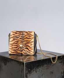 "Umhängetasche aus Leder und Cavallino-Leder Print ""Tiger"" Frau OA8TDT-01"