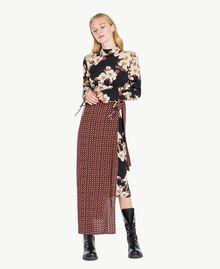 Kleid mit Print Mehrfarbiger Kirschblütenprint TA7251-01