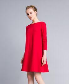 A-Linien-Kleid aus Interlock-Jersey Venedigrot Frau PA821U-02