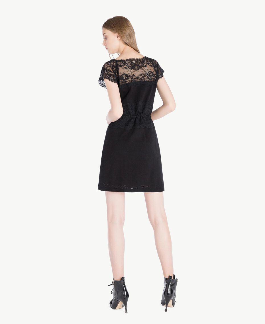 Kleid mit Spitze Schwarz Frau PS83DL-03