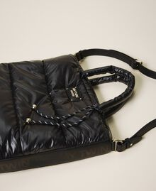 Quilted shopper with logo Black Woman 202MO8021-02