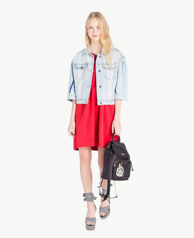 Asymmetrisches Kleid Hochrot Frau JS82QS-05