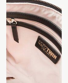 TWINSET Multicolour clutch bag Multicolour Black / Cream / Coffee Woman RS8TFE-04