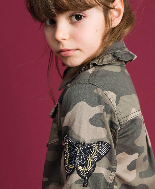 Camicia a stampa camouflage Stampa Camouflage Bambina 192GJ2160-04
