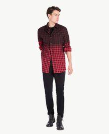Camicia check Rosso / Nero UA72E1-01