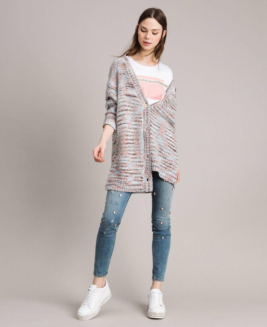 """Multicolour lurex cardigan Multicolour """"Pastel Colour"""" Lurex Woman 191MP3181-0T"""