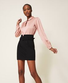 """Two-tone dress with sheath skirt Two-tone Black / """"Vintage"""" Pink Woman 202ST2027-03"""