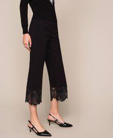 Pantalon avec dentelle Noir Femme 201TP2123-03