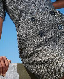 Mini-jupe en tissu bouclé avec sequins Noir Femme 202MT218B-05