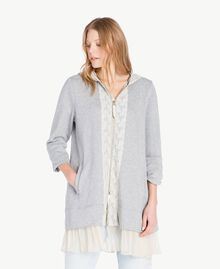 Maxi sweat-shirt Gris clair chiné Femme PS82UP-01