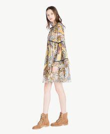 Kleid mit Print Paisleyprint Frau SS82MD-02