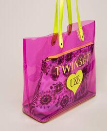 Beach bag with pochette Flirty Rose Multicolour Print Woman 201LB7GTT-03