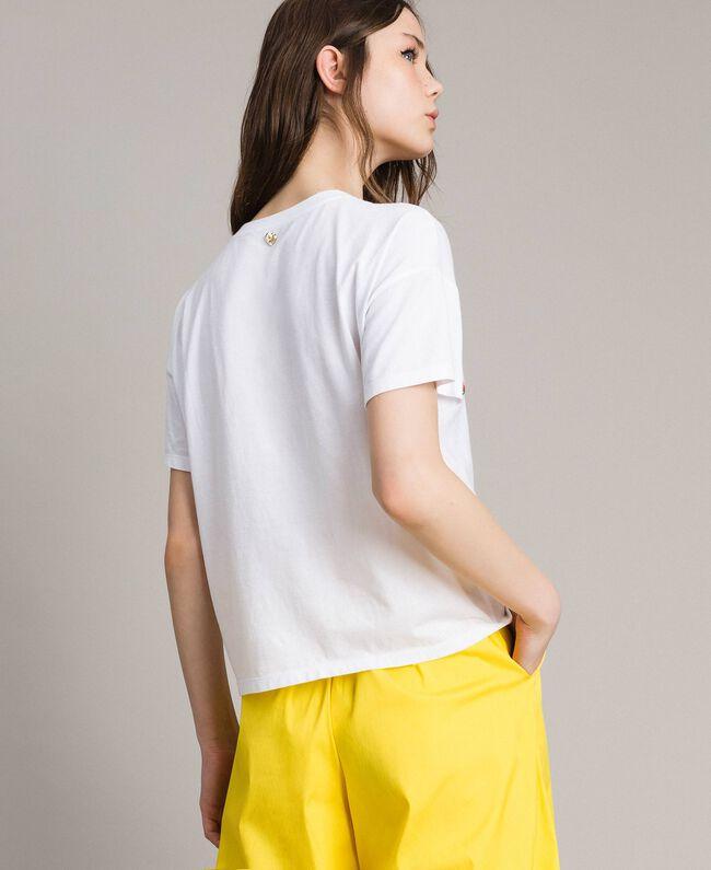 T-Shirt mit gesticktem Logo White Sahne Frau 191MP2061-04