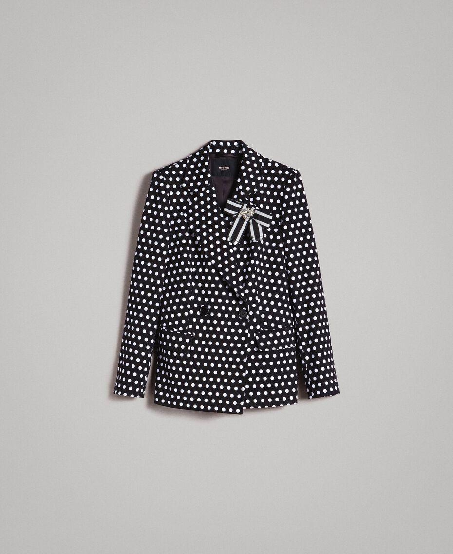 Veste blazer à pois Bicolore Noir / Blanc Femme 191MP2360-0S
