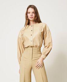 "Poplin shirt with inserts ""Cuban Sand"" Pink Woman 211TT2491-01"
