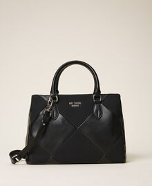 Faux leather shopping bag Cherry Red Woman 202MA7020-01