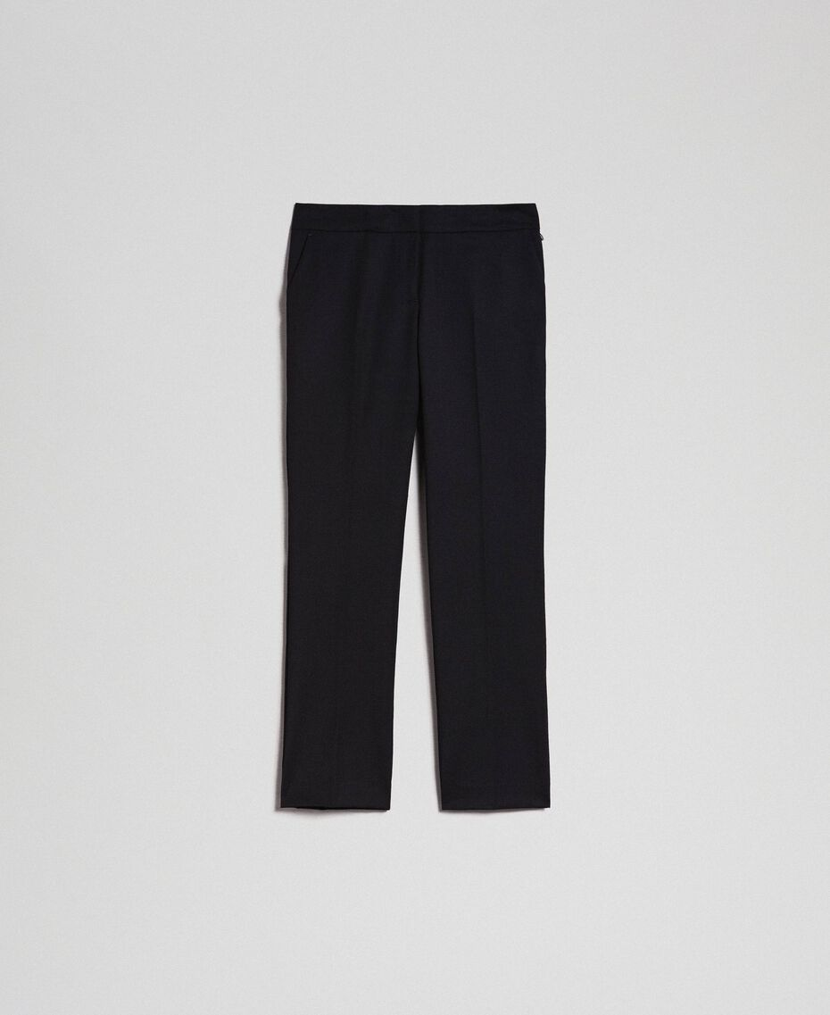 Cigarette trousers in technical wool Black Woman 192TP2356-0S