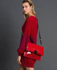 Маленькая складная сумка-шоппер из искусственной кожи Красный Гранат женщина 192TA7174-0S